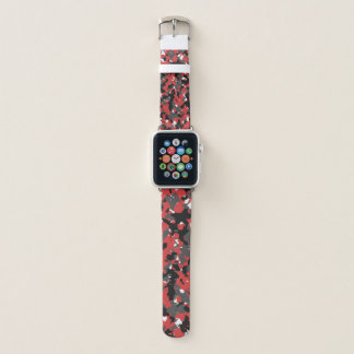 Red camo apple watch band