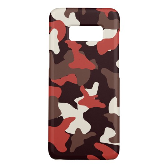Red camo camouflage army pattern Case-Mate samsung galaxy s8 case