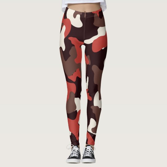 Red camo camouflage army pattern leggings