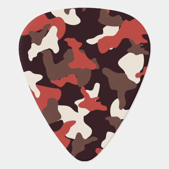 Red camo camouflage army pattern plectrum