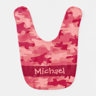 Red Camo Camouflage Name Personalised Bib