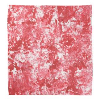Red Camo Splatter Painting Bandanna
