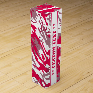 Red Camo w/ Custom Text Wine Boxes