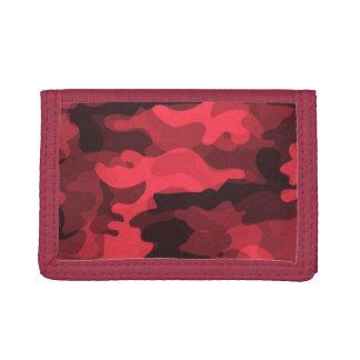 Red Camoflauge Tri-fold Wallet