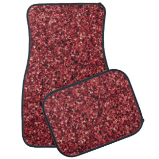 Red Camouflage Car Mat Full Set