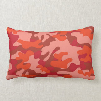 Red Camouflage Lumbar Cushion