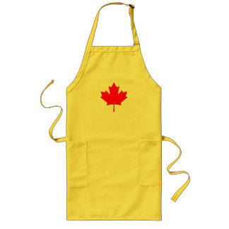 Red Canada Maple Leaf Souvenir Long Apron