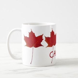 red canadian maple leaf - Canada Coffee Mug