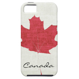 red Canadian maple leaf Case For The iPhone 5