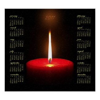 Red Candle 2011 Calendar Poster