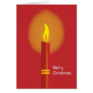 Red Candle Christmas Greeting Card