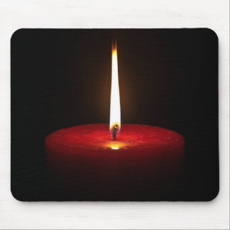 Red Candle Mouse Pad