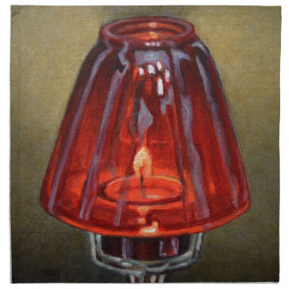 Red Candle Napkin