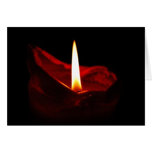 Red Candle Notecard Card