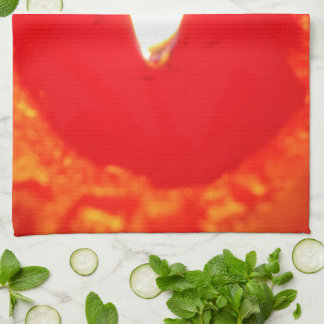 Red Candlelight, Flame , Candle, Christmas Love Towel