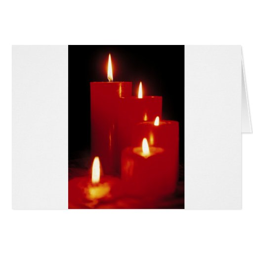 Red Candles Card