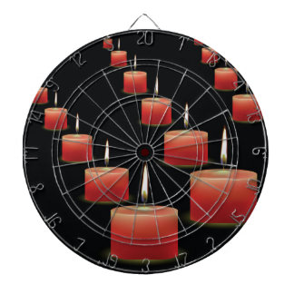 red candles dartboard