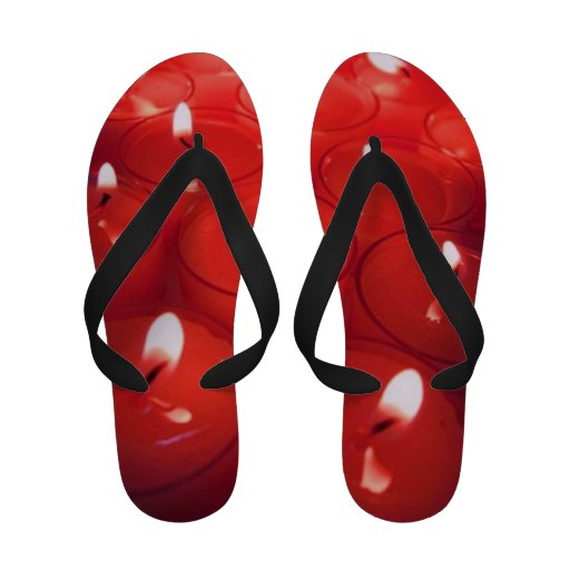 Red Candles Flip Flops