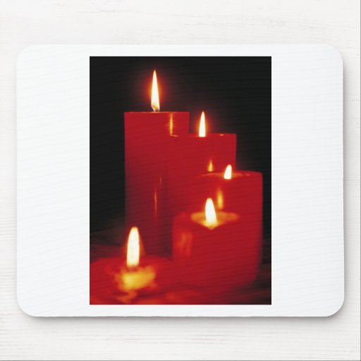 Red Candles Mousepads