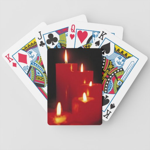 Red Candles Bicycle Playing Cards