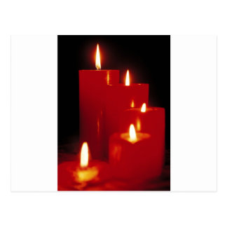 Red Candles Postcard