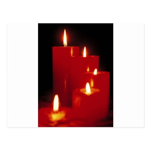 Red Candles Post Cards