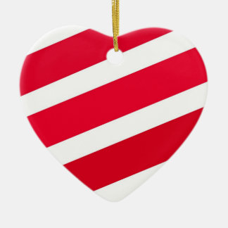 Red Candy Cane Stripes Christmas Ornament