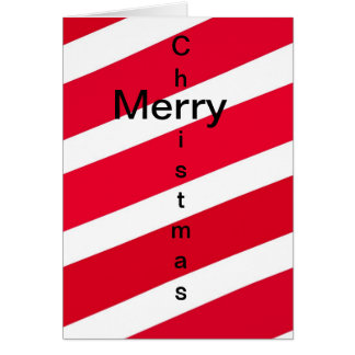 Red Candy Cane Stripes Greeting Card
