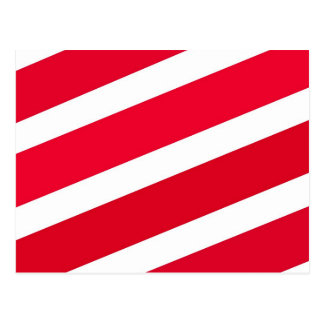 Red Candy Cane Stripes Post Card