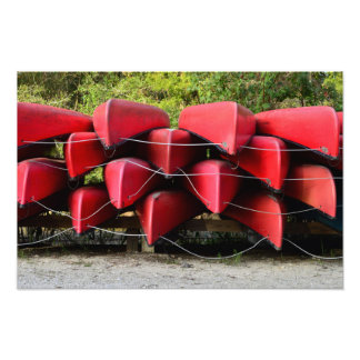 Red Canoes Photo Print