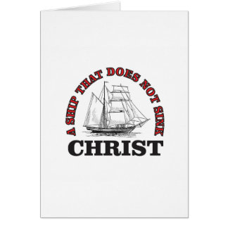 red cant sink Christ Card
