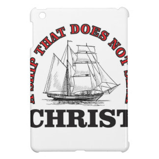 red cant sink Christ iPad Mini Cover