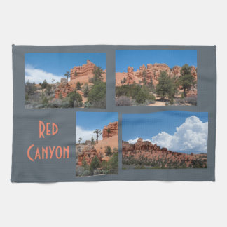 Red Canyon Utah Photo Template Tea Towel
