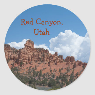 Red Canyon, Utah Template Souvenir Classic Round Sticker