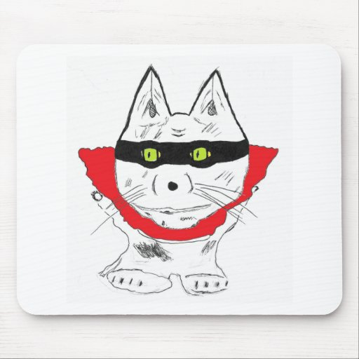 red cape hero mousepads