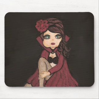 Red Cape Quantum Cutie Girl  Mousepad