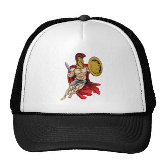 Red Caped Greek Warrior Cap