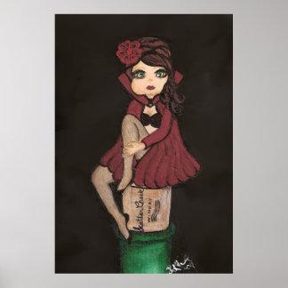 Red Caped Quantum Cutie Poster