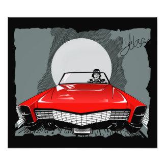 Red car photo print