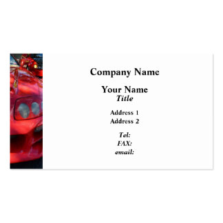 Red Car Smiling Business Card