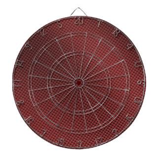 Red Carbon Fiber Patterned Dartboard