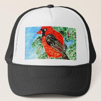 Red Cardinal Art2 Trucker Hat