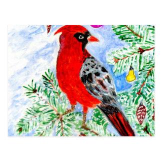 Red Cardinal Art Postcard
