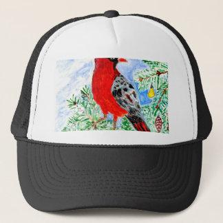 Red Cardinal Art Trucker Hat