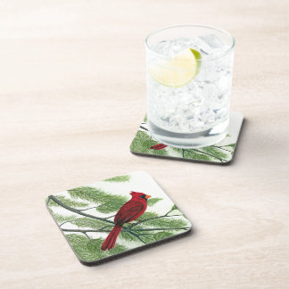 Red Cardinal Beverage Coaster