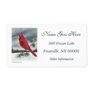 Red Cardinal Bird Left
