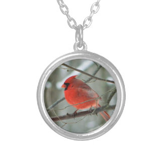 Red Cardinal Bird Locket