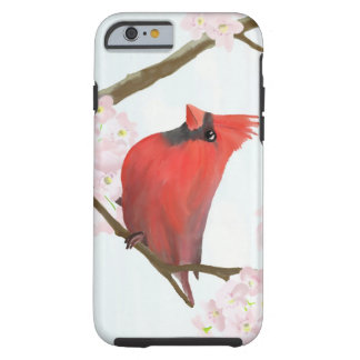 Red Cardinal Bird on a Cherry Blossom Tree Tough iPhone 6 Case