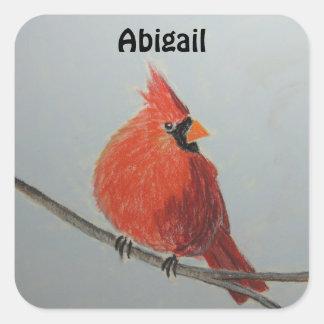 Red Cardinal Customizable Sticker