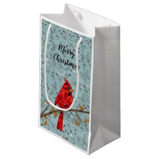 Red Cardinal Mosaic Small Gift Bag